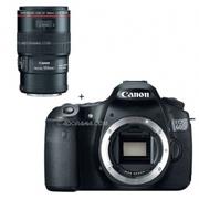 Canon EOS 60D Digital SLR Camera Body,  with EF 100mm f/2.8L IS USM Mac